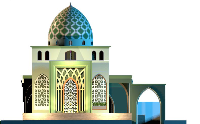 Tampak Samping - Masjid Pancur Batu
